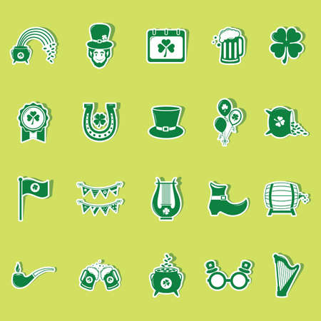 st patricks day icons collection