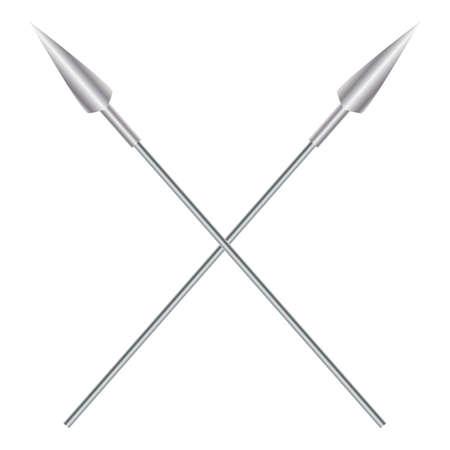 Crossed spears