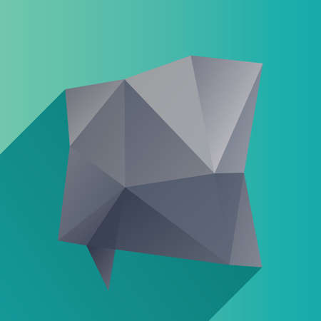 geometric speech bubble