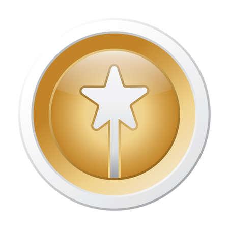 star button 일러스트