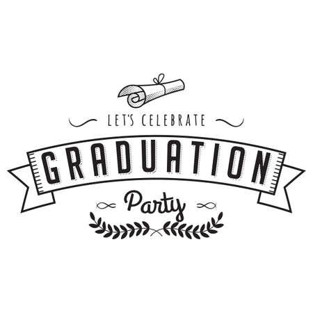 graduation label Ilustração