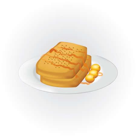 オリーブとはちみつフレンチ トースト