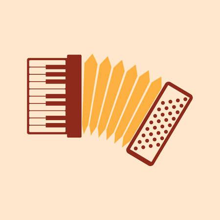 Een toetsenbord-accordeon illustratie.