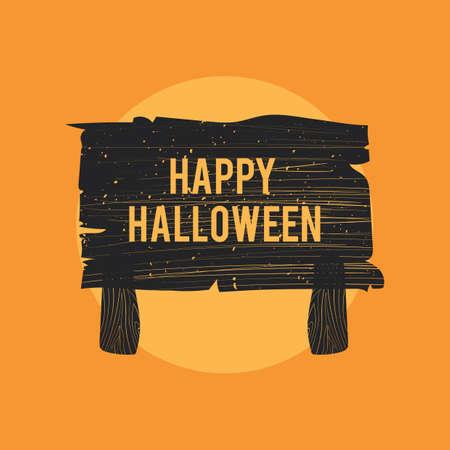 Halloween wegwijzer Stock Illustratie