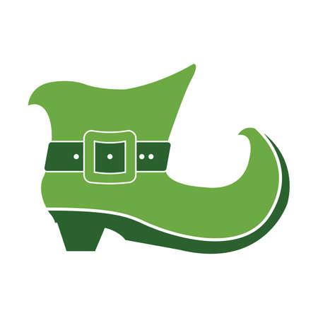 green leprechaun boot