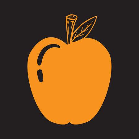 An apple illustration.