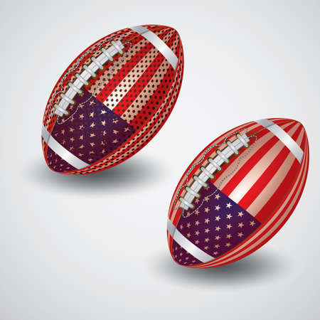 american footballs Illustration