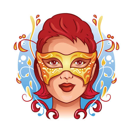 woman wearing carnival mask