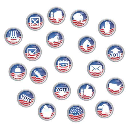 選挙のアイコンのセット  イラスト・ベクター素材
