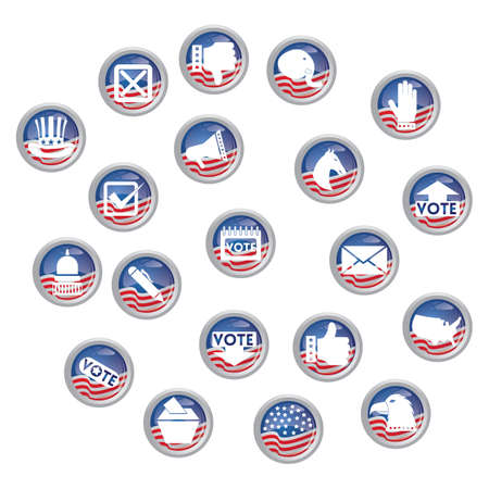 Set of election icons Stok Fotoğraf - 81537401