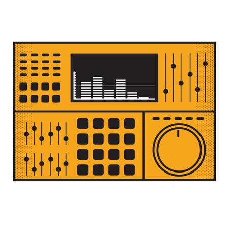 dj mixer Иллюстрация