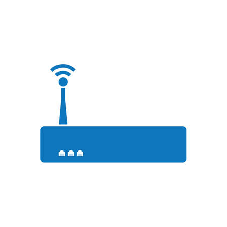 router with antenna Illustration