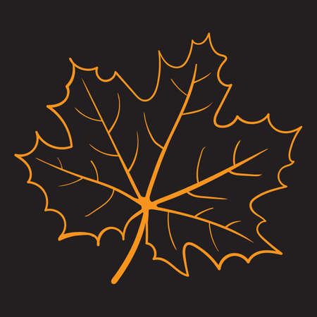 A maple leaf illustration. 版權商用圖片 - 81419924