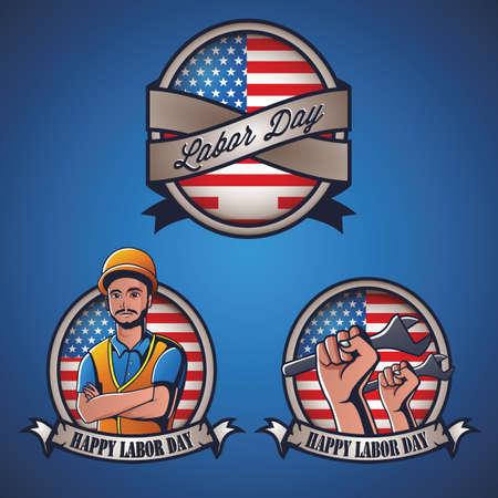 labor day label Illustration