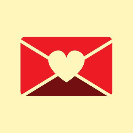 A love letter illustration.