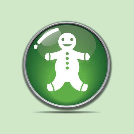 ジンジャーブレッド ボタン