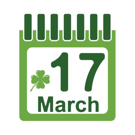 st patricks day calendar Ilustração