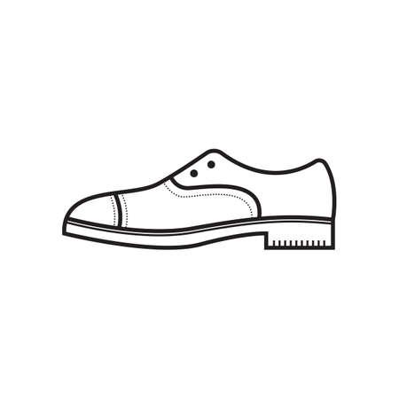 A plain shoes illustration. Illustration