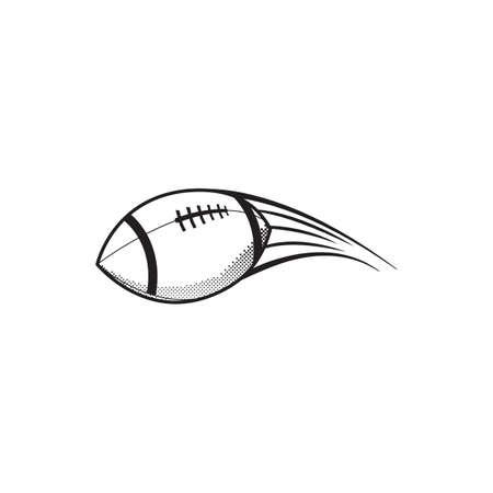 american football in air Illusztráció