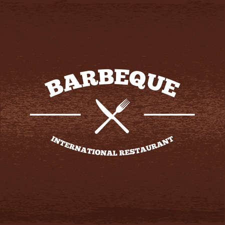 A barbeque label illustration.