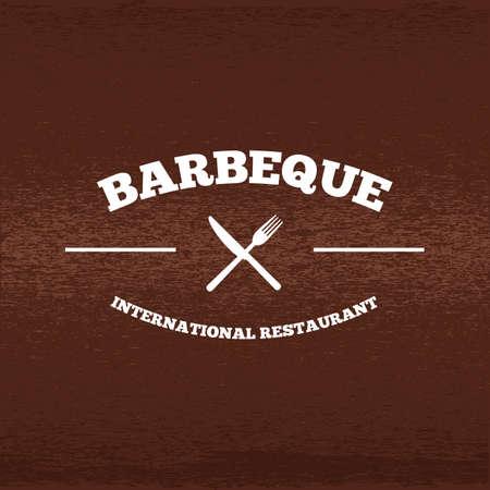 Een illustratie van een barbecue label. Stock Illustratie