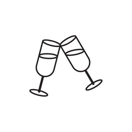 シャンパン グラス  イラスト・ベクター素材