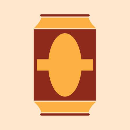 Een biertje kan illustratie.
