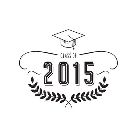 A graduation label illustration.