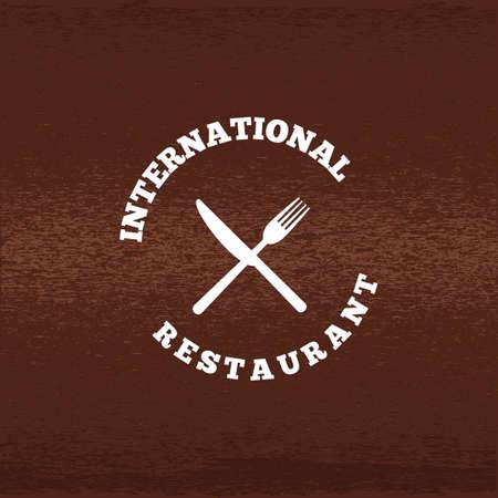 Une illustration d'étiquette de restaurant. Banque d'images - 81485912