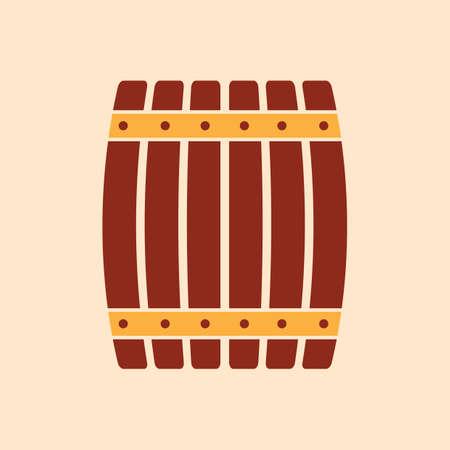 ビール樽の図。