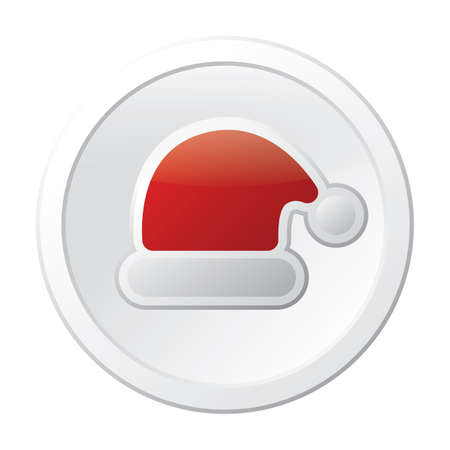 santa hat button