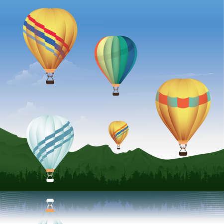 hot air balloon background Foto de archivo - 106671552