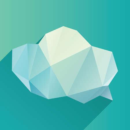 geometric speech bubble