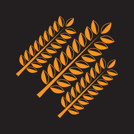 A wheat illustration. 版權商用圖片 - 81420101