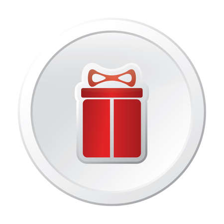 gift box button 일러스트
