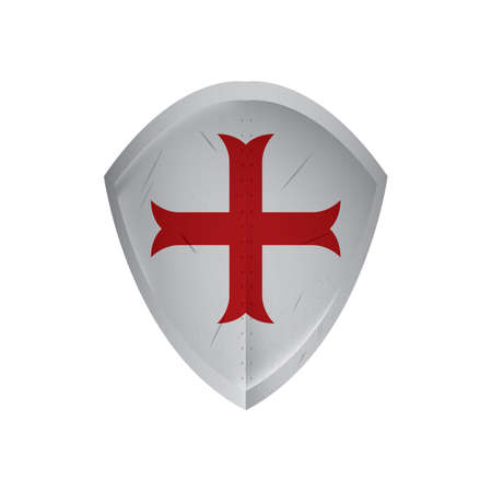 shield with cross Ilustrace
