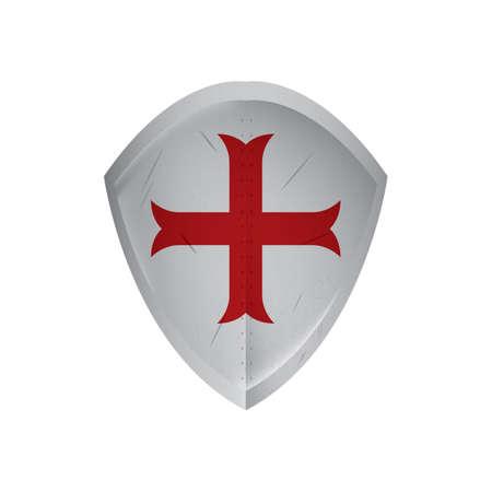 shield with cross Illustration