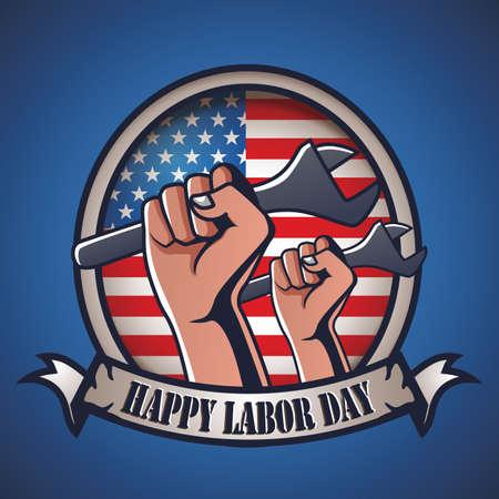 Labor day label