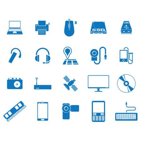 set of computer equipment Vector Illustration