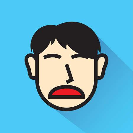 unhappy man Illusztráció