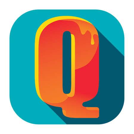 alfabeto q Ilustración de vector