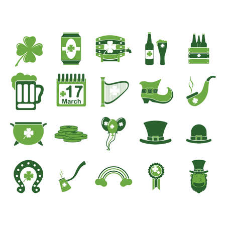 set of st patricks day icons