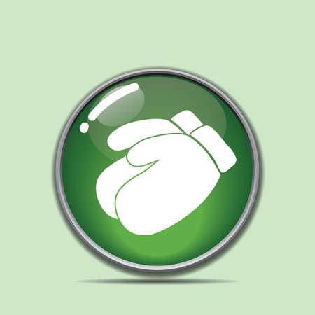 hand handschoenen knop Stock Illustratie