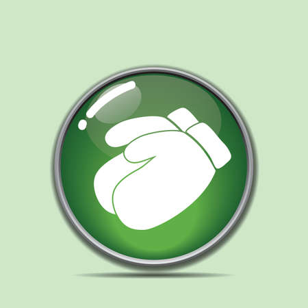 hand gloves button