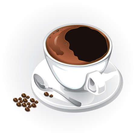 taza de café Ilustración de vector