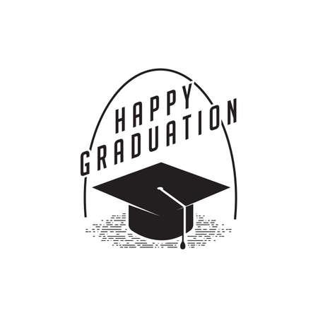 A graduation label illustration.