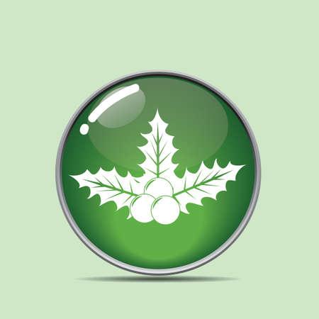 ヒイラギの果実ボタン  イラスト・ベクター素材