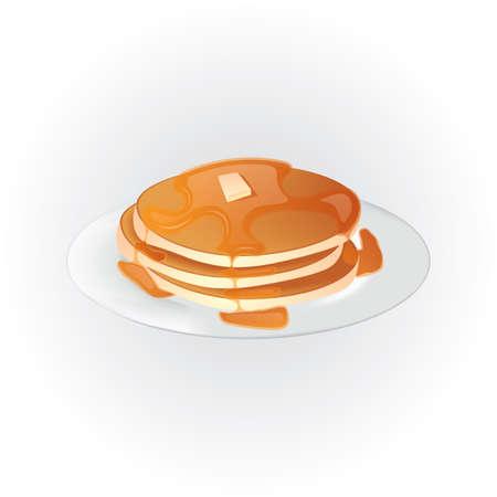 Pancake con sciroppo Archivio Fotografico - 81538371