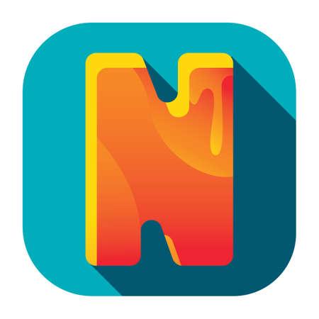 alphabet n Stock Illustratie