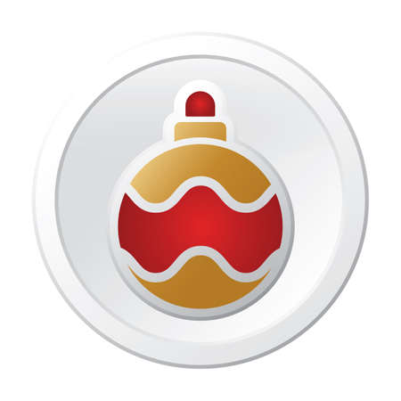 christmas ball button